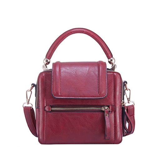 Casual Plain Mini PU Crossbody Bag