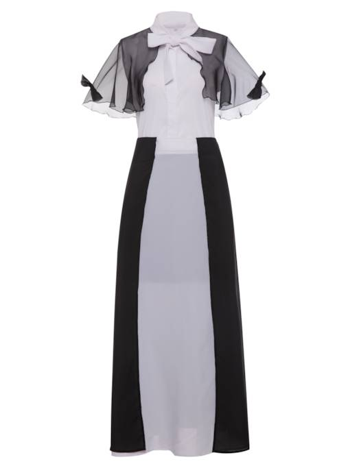 Color Block Sleeveless Women's Skirt Suit