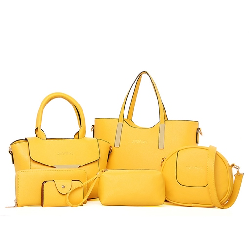 Casual Solid Color Women Handbag (5 Bag Set)