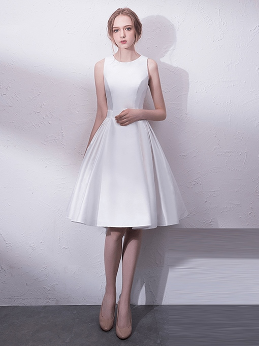 A-Line Scoop Knee-Length Cocktail Dress