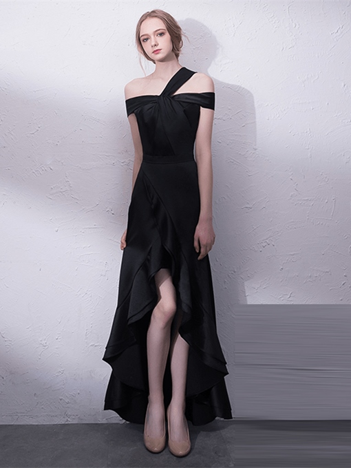 Sheath One-Shoulder Asymmetry Evening Dress