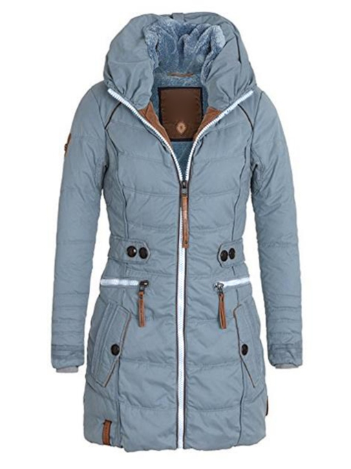 Damen Winter Warmer Jacket Mit Stehkragen Winterparka