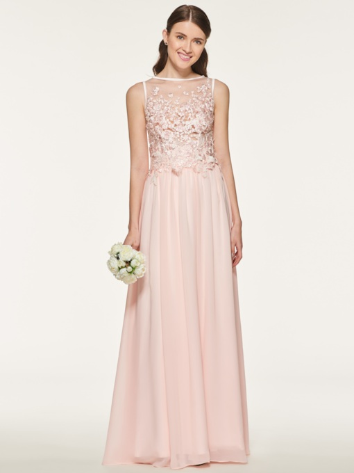 Appliques Beading Bridesmaid Dress