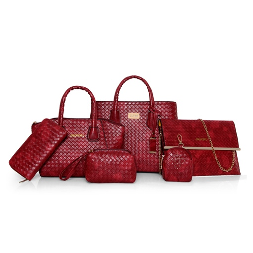 Casual Knitted PU Women Bag Set (6 Bags Set)