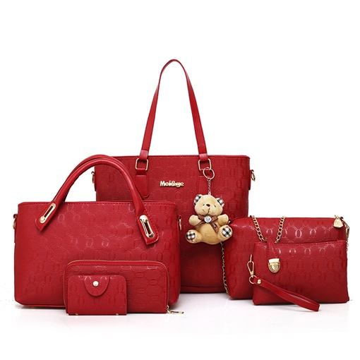 Casual Plain PU Women Bag Set ( 6 Bag Set)
