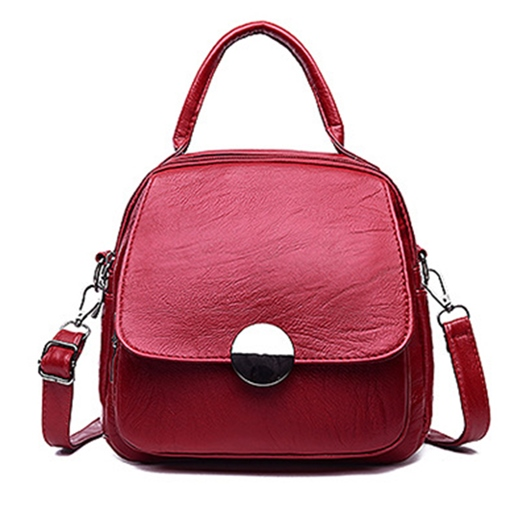 Casual Soft PU Women Backpack