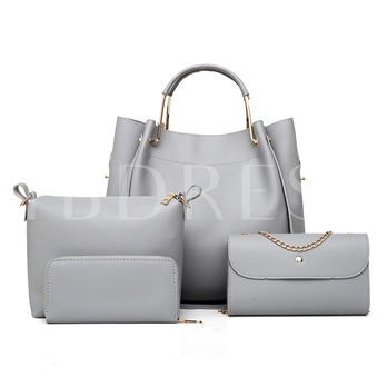 Chic Plain PU Women Bag Set ( 4 Bag Set )