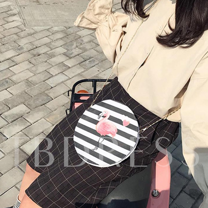 Casual Stripe Pattern Women Crossbody Bag