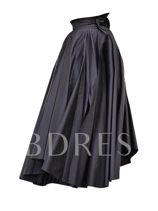 Plain Floor-Length High Waist Women's Ball Gown Skirt