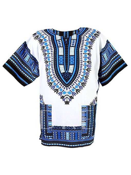 Dashiki African Print Men's Blouse T-Shirt