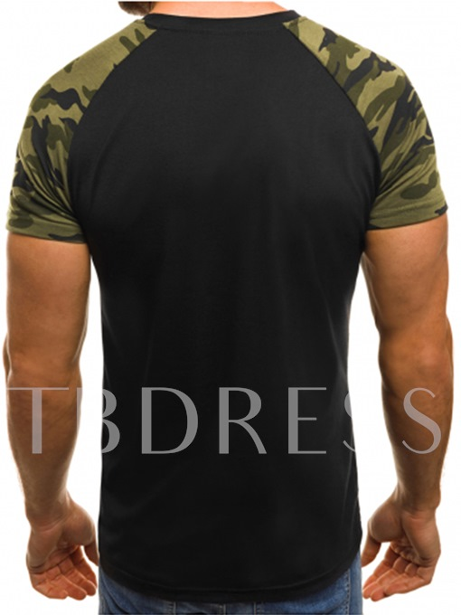 Patchwork Camouflage Slim Men's T-Shirt
