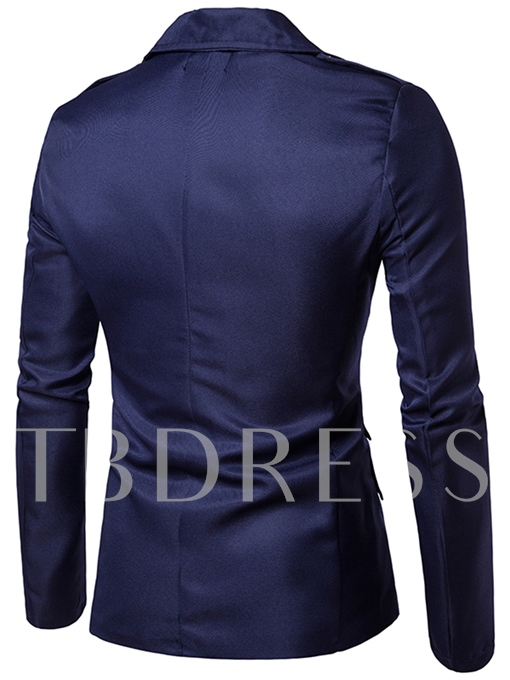 Lapel Inclined Zipper Slim Men's Blazer