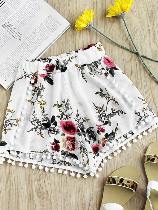 Floral Print Loose Women's Shorts