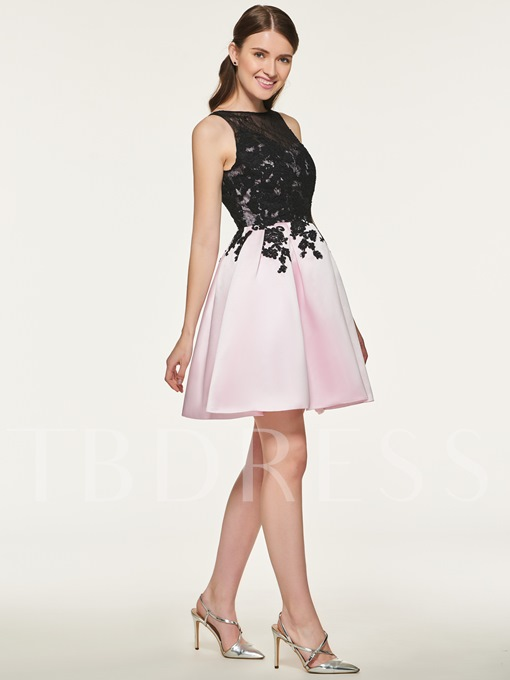 A-Line Lace Short Bridesmaid Dress