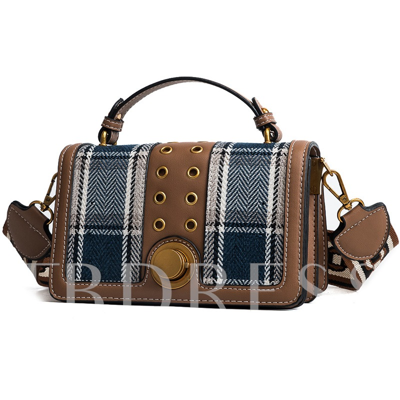 Casual Plaid PU Women Crossbody Bag