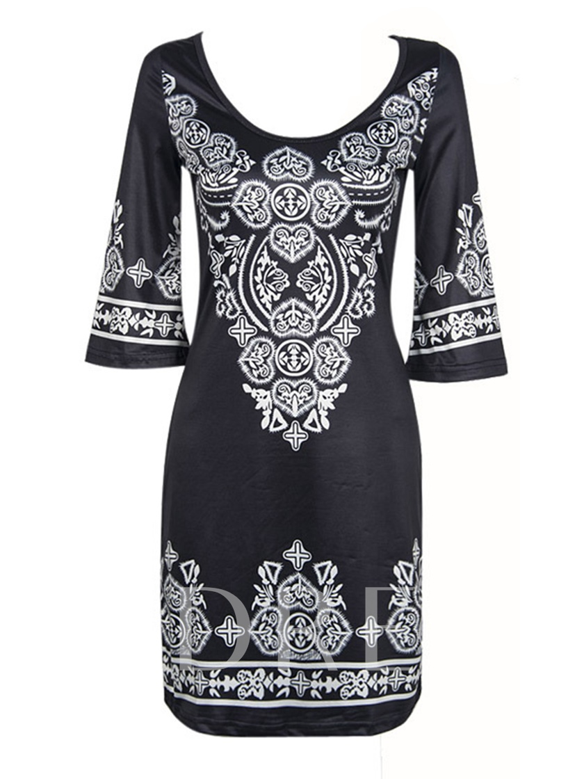 African Tradition Printing Dashiki Women's Bodycon Dress