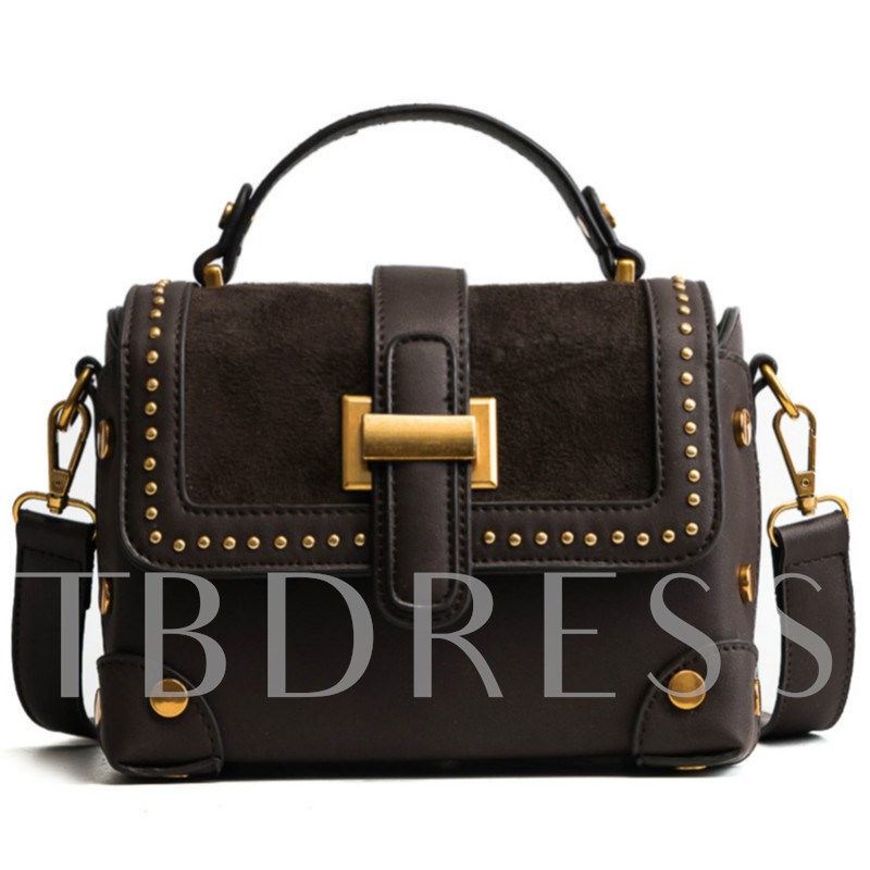 Rivet Decoration PU Women Crossbody Bag