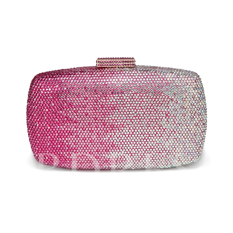 Concise Rhinestone Mini Women Clutch