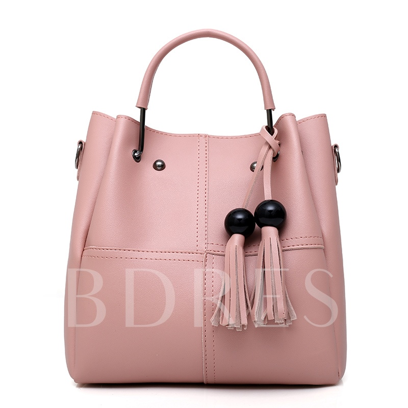 Trendy Tassel Decoration PU Bag Set ( 3 Bag Set)