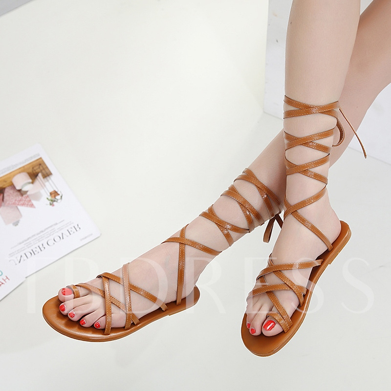 Toe Ring Lace Up Women's Gladiator sandals