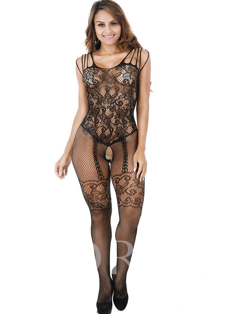 Crotchless Mesh See-Through Sexy Pantyhose