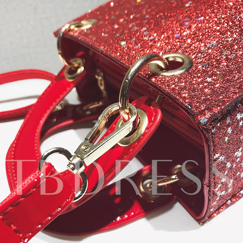Trendy Sequins PU Women Crossbody Bag