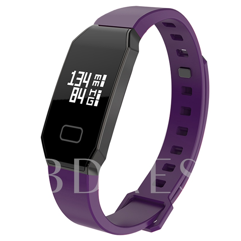 Waterproof Fitness Tracker with Blood Pressure Heart Rate Monitor Purple