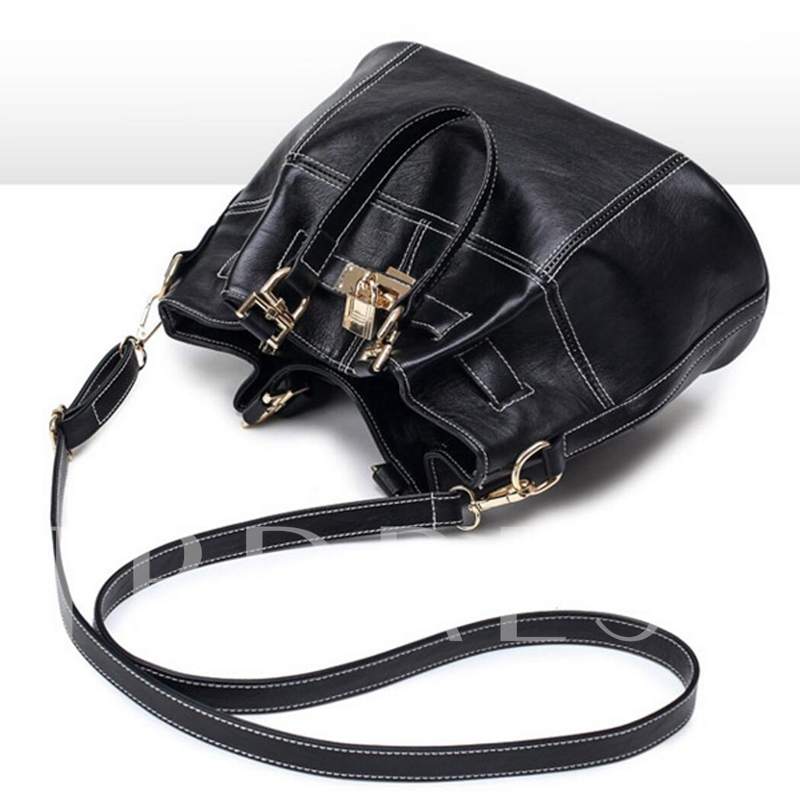 Casual Lock Decoration Women Shoulder Bag