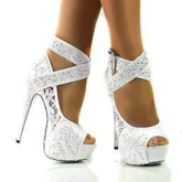 Plain Peep Toe Stiletto Heel Sexy Women's Pumps