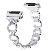 Fitbit Adjustable Metal Strap Lonic Smart Bracelet Metal Diamond Metal Wristband