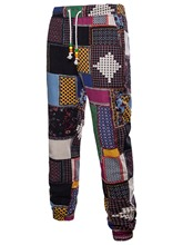 African Fashion Lapel Ethnic Patchwork Slim Men's Leisure Suit