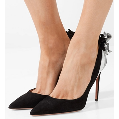 Pointed Toe Suede High With Pumps for Women