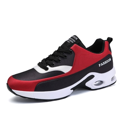 Cloth Color Block Tie Up Gym Shoes for Men