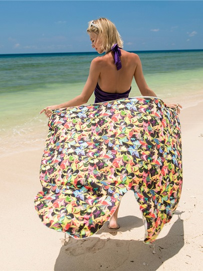 Print Floral Beachwear Women's Cover Up