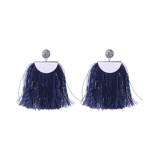 Overgild Tassel Alloy Ethnic Earrings