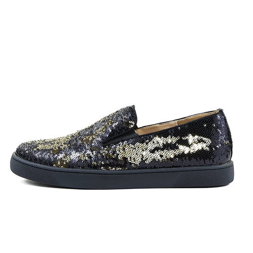 Full Sequins Men's Chic Black Loafers