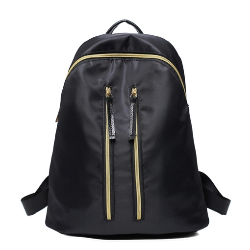 Casual Double Zipper Oxford Backpack