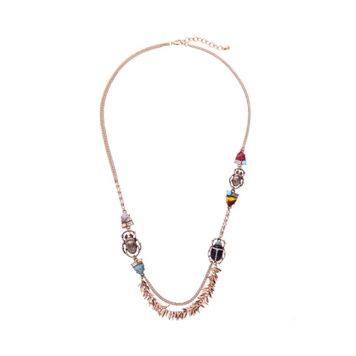 Popcorn Chain Insect Stone Necklace