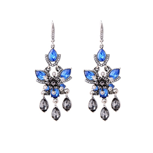 Pear Shaped Rhinestone Earrings