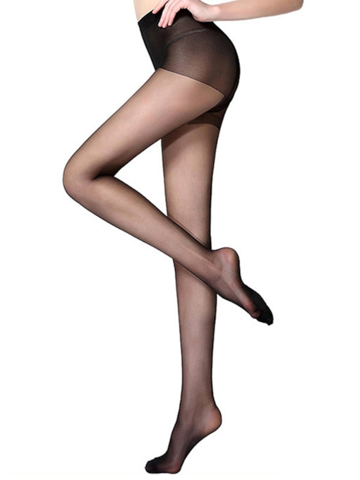 High-Waist Ventilation Plain Stocking Compression Socks