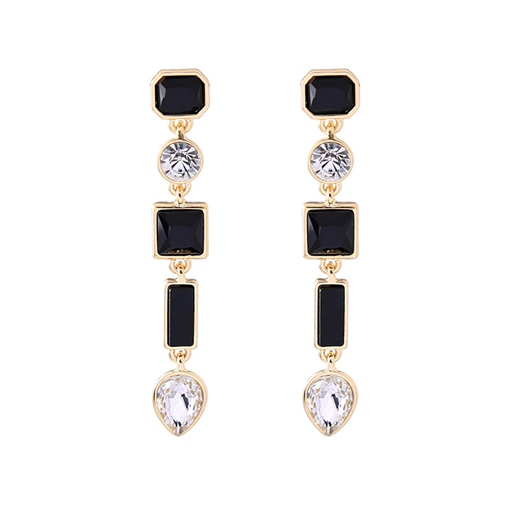 Rhinestone Geometric Pear Earrings