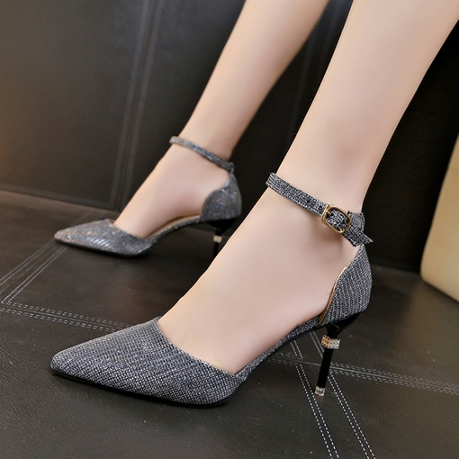 Lures Slim Heels Line Buckle Women's Pumps