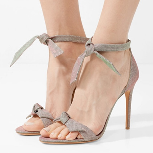 Tie Up Lures Sandals Heel Covering Prom Shoes