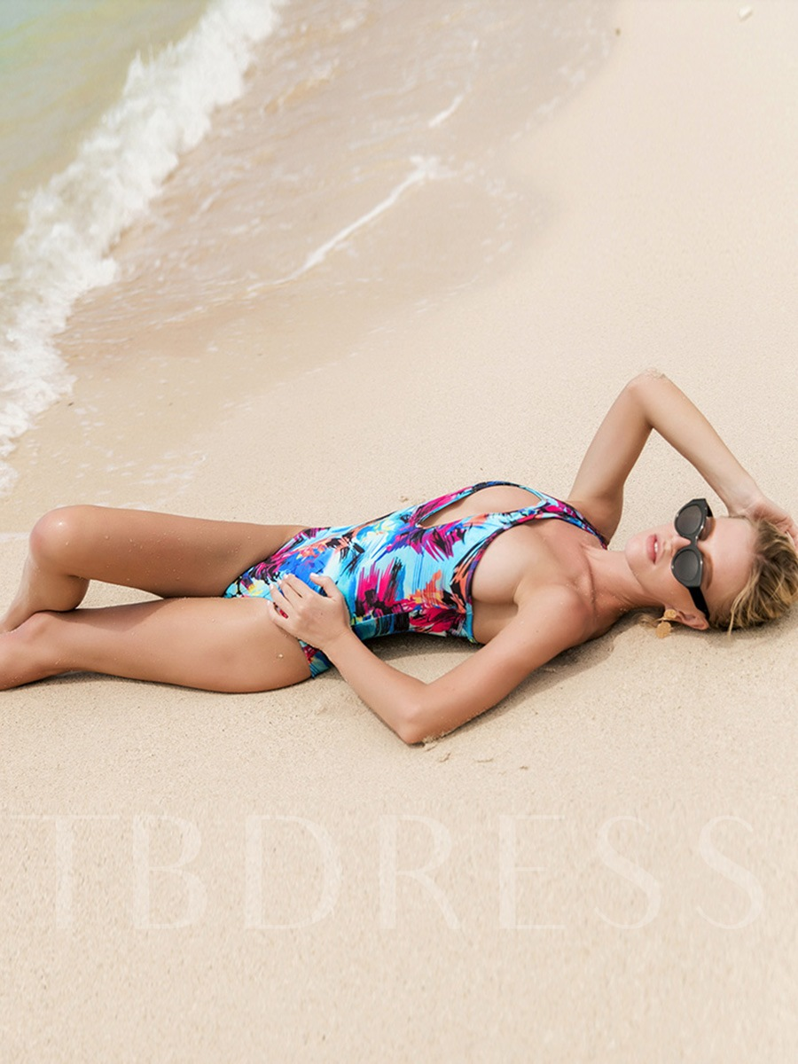Long Sleeve Cover-Up & One-Shoulder Monokini 2-Pcs Swimsuit