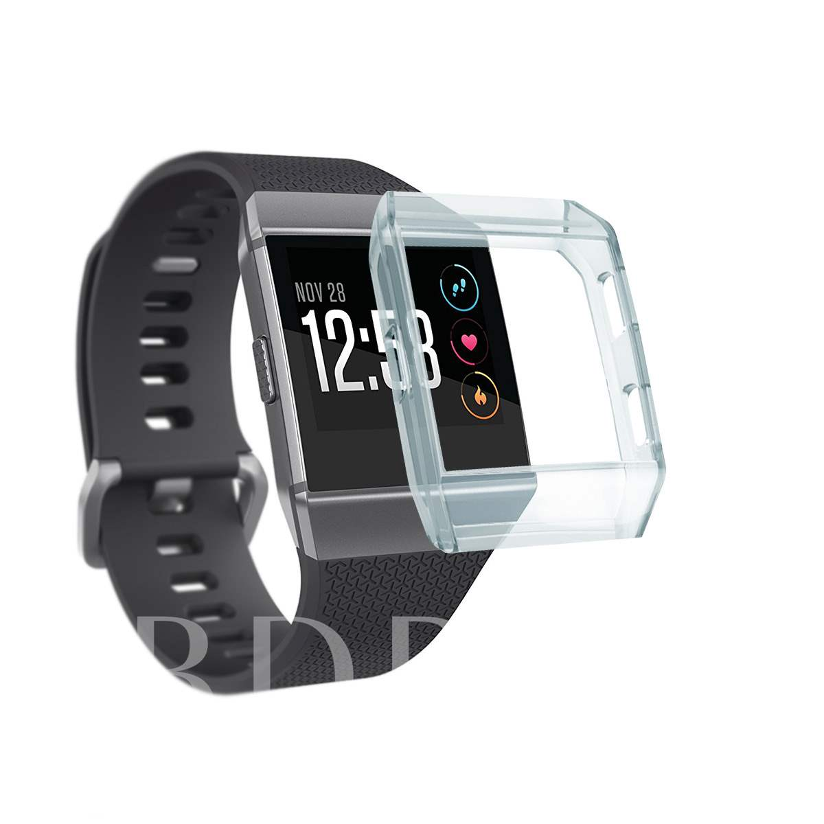 Shock-Proof Shatter-Resistant Rugged Slim Silicone TPU Cover Shell for Fitbit Ionic