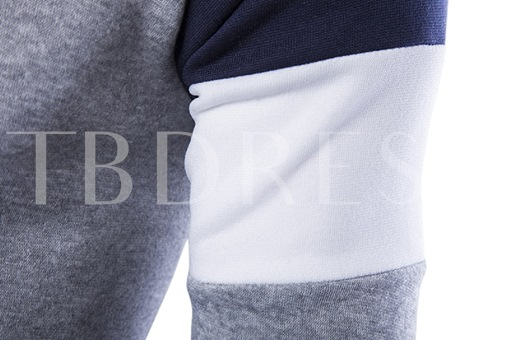 Men's Hoodie with Button Collar