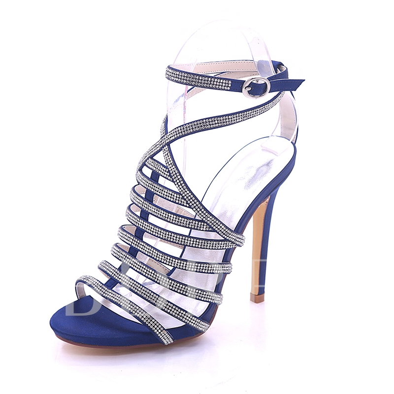 Rhinestone Strappy Women's Delicacy Sandals Bridals Shoes