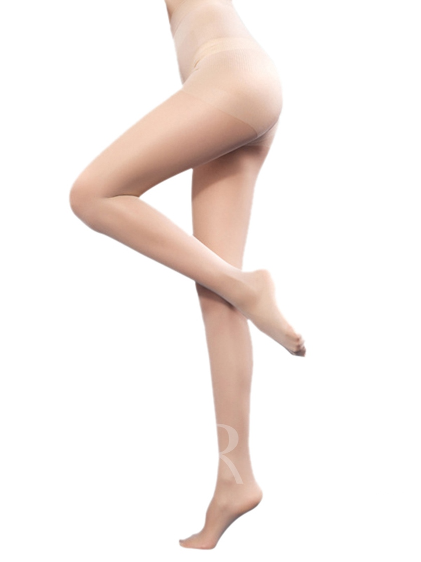 High-Waist Plain Sexy Stocking Compression Socks