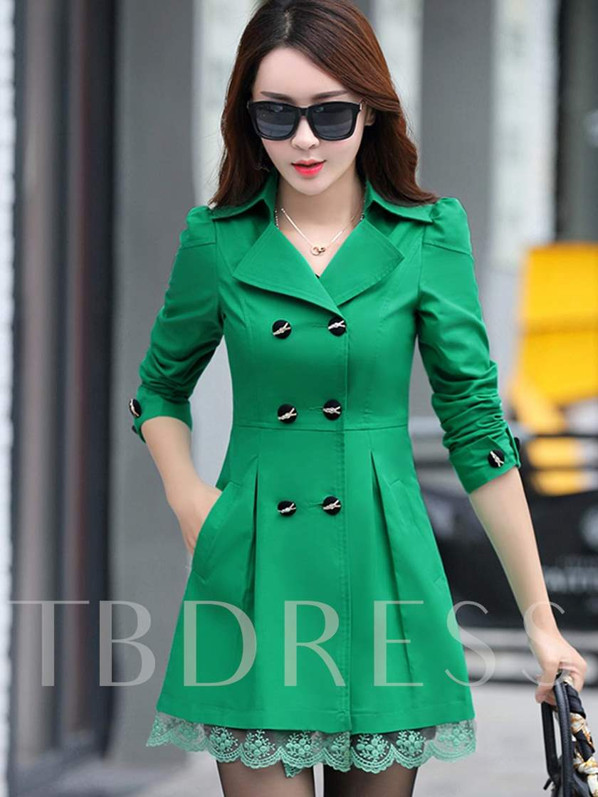 Slim Sleeve Length Dettachable Women's Trench Coat