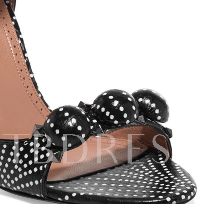 High With Shoes Print Dot Sandals for Women
